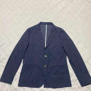 6【着少】COMME CA ISM コムサ イズム テーラードジャケット サマージャケット 春夏 軽量 ストレッチ 紺 ネイビー M 格安 47-24JZ03