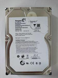 ★ジャンク品★SEAGATE(シーゲイト) ハードディスク HDD ST32000542AS/2TB/SATA300/5900 rpm/3.5インチ ★