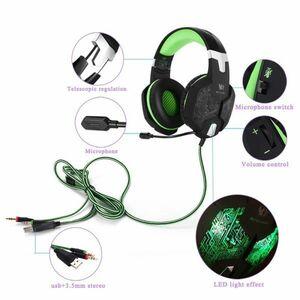 【選べる8タイプ ケーブル付き】 ゲーミングステレオヘッドホンヘッドセット 高音質 マイク LEDライト 快適装着 PC/PS4/XBOX