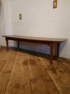 MADE IN U.S.A. ビンテージ コーヒーテーブル LT-132/アメリカ 米軍払下げ ミッドセンチュリー モダン ローテーブル カフェ 店舗什器