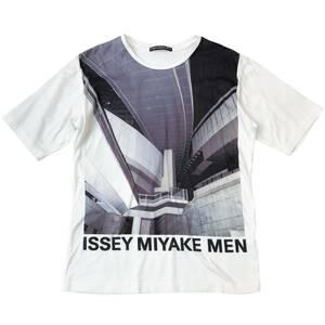 ISSEY MIYAKE MEN イッセイミヤケメン Tシャツ 1 メンズ S ホワイト コットン 水谷吉法 コラボ フォト プリント 16SS ME61JK071 半袖