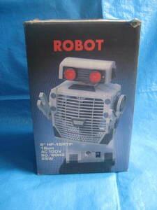super treasure! old Vintage robot electric fan ROBOT 6~HF-15RTF eyes . shines Showa Retro boxed 1 point limit