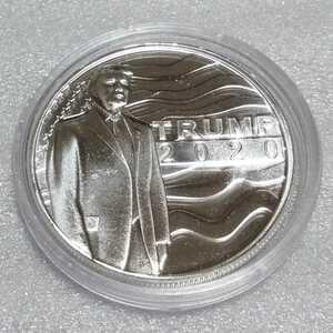 2020 トランプ 第45代 アメリカ大統領 銀貨 ラウンド アイテム1
