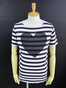 ボヘミアンズ BOHEMIANS ボーダー ラブ 半袖Tシャツ Mサイズ ブラック/グレー