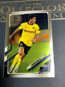 2020-21 Topps Chrome UEFA Champions League Soccer Giovanni Reyna Borussia Dortmund Base  カード 即決