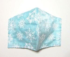 ハンドメイド 大きめ オーガンジー・雪の結晶(ミントグリーン) 立体インナー・カバー