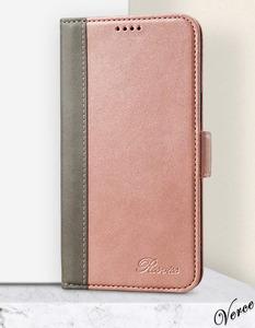 コーラルピンク 手帳型ケース iPhone 12 / Pro 6.1インチ 高級感のある質感 馴染む柔らかさ スタンド機能あり 耐衝撃 カバー カード収納