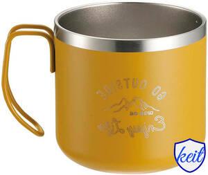 マグカップ コップ ダブルステンレス 真空断熱 保温・保冷 350ml キャプテンスタッグ