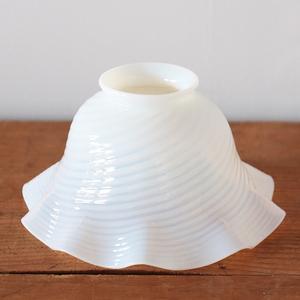 ランプシェード アンティーク オパールセント lamp shade swirl ヴィンテージ