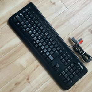 PC USBキーボード microsoft ブラック