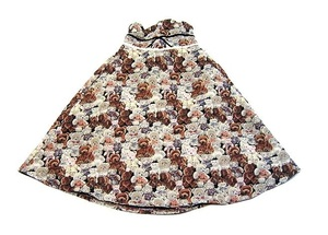 SWANKISS スワンキス テディベア柄 ゴブラン織りのスカート
