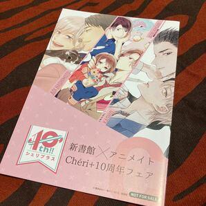BL 漫画 コミック 新書館×アニメイト シェリプラス 10周年フェア 描き下ろしリーフレット