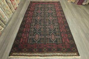 ブラックウールのマリキキリム アフガニスタン トライバルラグ オールド手織りキリム ヴィンテージ 141x240cm #870