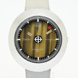 希少 ゾディアック/Zodiac 1970年代製造 アストログラフィック SST メンズ腕時計 自動巻き ビンテージ 虎目文字盤 SS ミステリーダイアル