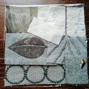 ミナペルホネン ぜーんぶ刺繍のハギレセット ハッパ 送料込み!ハギレ