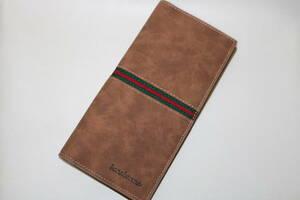 新品◆レザー 長財布・カードケース◆薄くて軽い 二つ折り財布◆メンズ・女性◆ブラウン