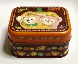 ダッフィー&シェリーメイ*チョコレート缶*2010ハロウィン*TDS東京ディズニーシー*TDR東京ディズニーリゾート*お菓子缶