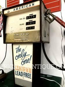 本日限り価格^^★アメリカンヴィンテージ★1960年代 アモコ・オイルデザイン 大型76cm ガスポンプ型ディスプレイ USA直輸入