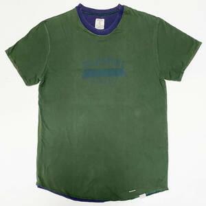 ■ラルフローレン・リバーシブルTシャツ・グリーン/ネイビーS美品■