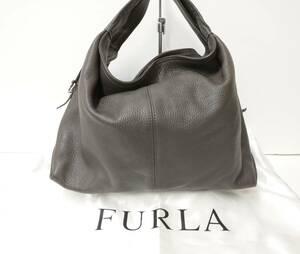 【お値下げしました】FURLA フルラ トートバッグ ハンドバッグ ダークブラウン