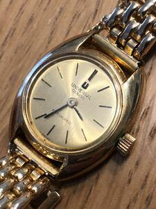 正規品【ユニバーサルジュネーブ】universal Genve スイス製  AT 自動巻き レディース腕時計 オートマティック