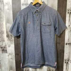 le coq sportif GOLF COLLECTION ルコック ゴルフ ポロシャツ 半袖 Lサイズ ストレッチ メンズ