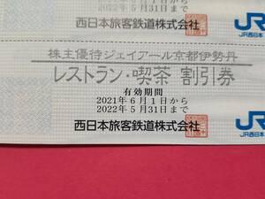 複数出品 JR西日本 株主優待 ジェイアール京都伊勢丹 レストラン・喫茶 割引券
