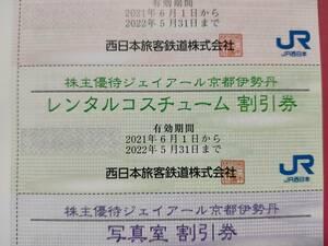 JR西日本 株主優待 ジェイアール京都伊勢丹 貸衣装 レンタルコスユーム 割引券
