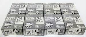 [ не использовался товар ] Tepra PRO пункт знак этикетка 24mm прозрачный 8 шт. комплект