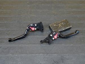 【210614】Ninja250(EX250L-000)■ 社外レバー左右セット ブレーキ/クラッチレバー DIMOTIV DMV ディモーティブ 可倒式 【NINJA ニンジャ