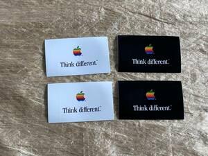 Think different ステッカー 4枚(白x 2, 黒x2) Apple グッズ
