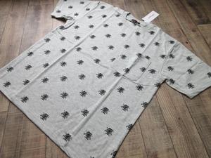 未使用新品 エドハーディ 総柄Tシャツ 灰M