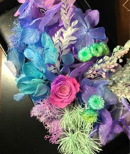 ピンクパープル薔薇★box 花材 紫陽花 あじさい ハーバリウム花材