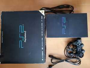 美品 SCPH-50000 ミッドナイトブラック SONY PS2 PlayStation2 プレステ2 本体1式 動作確認済