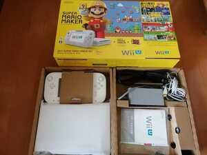 美品 ワンオーナー 液晶フィルム貼り付け センサーバーおまけ WiiU 本体 マリオメーカーセット 32GB 白 動作確認済 任天堂 状態良好