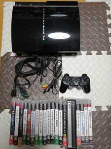 お買い得 PS3 本体 初期型 CECHH00 黒  SONY  プレイステーション3 PlayStation3 本体一式 ソフト19本セット ドラゴンボール