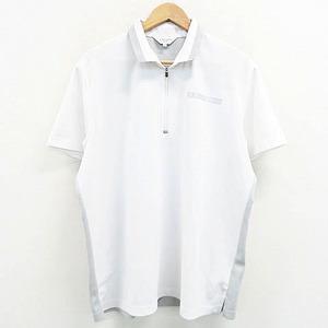 LANVIN SPORT ランバン スポール 半袖ハーフジップポロシャツ ホワイト系 44 [240001537769] ゴルフウェア メンズ