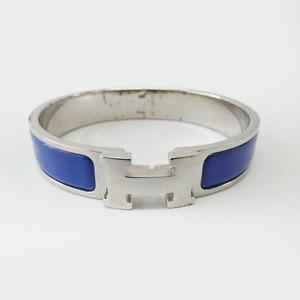 HERMES エルメス クリッククラック バングル ブレス ブルー シルバー アクセサリー r526-11