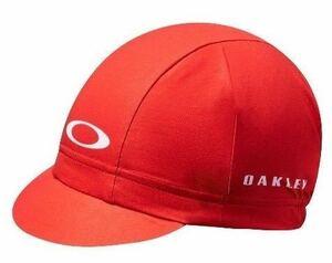 新品 OAKLEY オークリー サイクルキャップ S/M ロードバイク ピスト バイク シクロクロス 自転車 帽子 キャップ MTB 赤 レッド グラベル b