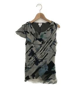 アルマーニコレッツォーニ ノースリーブシャツ シルク100% レディース SIZE 38 (S) ARMANI COLLEZIONI