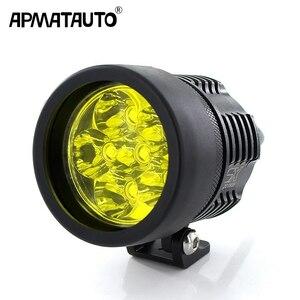 バイク ヘッドライト6000LM白6000 18Kイエロー3000用T6 XMLチップLED FOGスポットライトヘッドランプスポットライト防水バイク電球