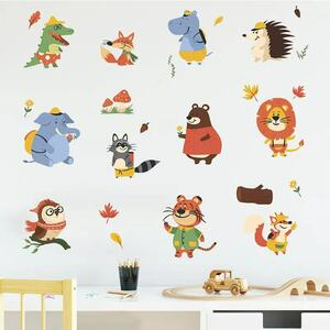 (NO.219)DIY剥がせる壁飾りウォールステッカー綺麗な仕上がり 動物たち