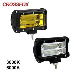 【値下げ交渉OK】フォグライト LED ライトバードライビングランプオフロードワークライトバー防水 IP67 ジープ ATV 車