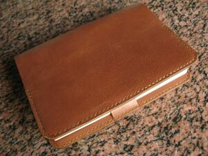 (g84) cow cow leather weak pull up library book@ size thickness book@ correspondence book cover * mocha Brown Velo ( book mark ) attaching hand .. hand made