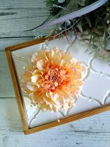 【Y165】コサージュ ブローチ ★オレンジ 結婚式 入学式 卒業式 成人式
