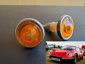 ★新品レア★ Ferrari Dino 206 246 gt gtb gts ウインカー フェラーリ 308 328 348 288gto 355 Fiat フィアット カウル アグスタ DUCATI