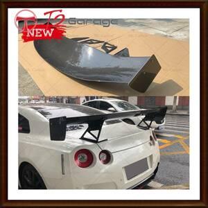 T2GARAGE 日産R35 GTR APRスタイルカーボンファイバースポイラーGTC-500トリムボディキットチューニング部品GT-R R35カーボンGTウイング