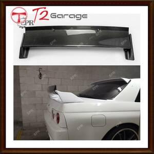 T2GARAGE 日産R32スカイラインGTR RBスタイルカーボン光沢またはFRP未塗装リアスポイラーウイング外装キット (サポートロッド)