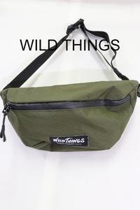 【メンズ】WILD THINGSショルダーバッグ/USAブランドアウトドアカーキ良品