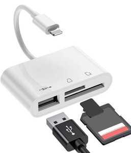 iPhone SD カード リーダー Micro SD カード リーダー USB カメラ アダプタ OTG機能 /SDHC/SDXC/micro SD/micro SDXC IOS 9.1 以降